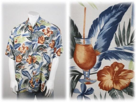 Vintage Aloha Shirt Rayon Shirt XL