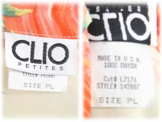 Vintage Aloha Blouse Clio Rayon Shirt Petite Large - image 10