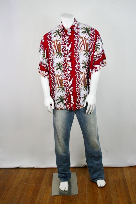 Vintage Aloha Shirt Untied Rayon Surfboard Shirt - image 2