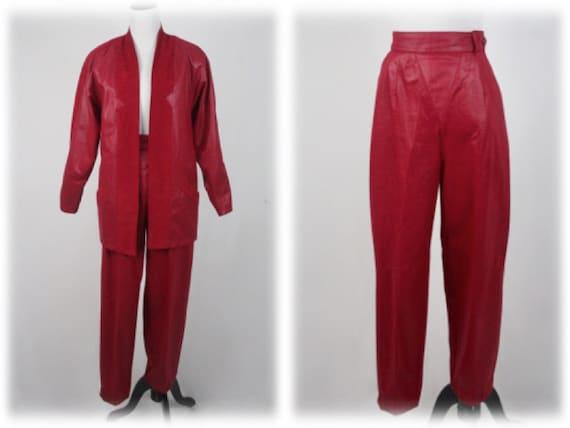 1980s Pants and Jacket Set City Girl Pant Suit