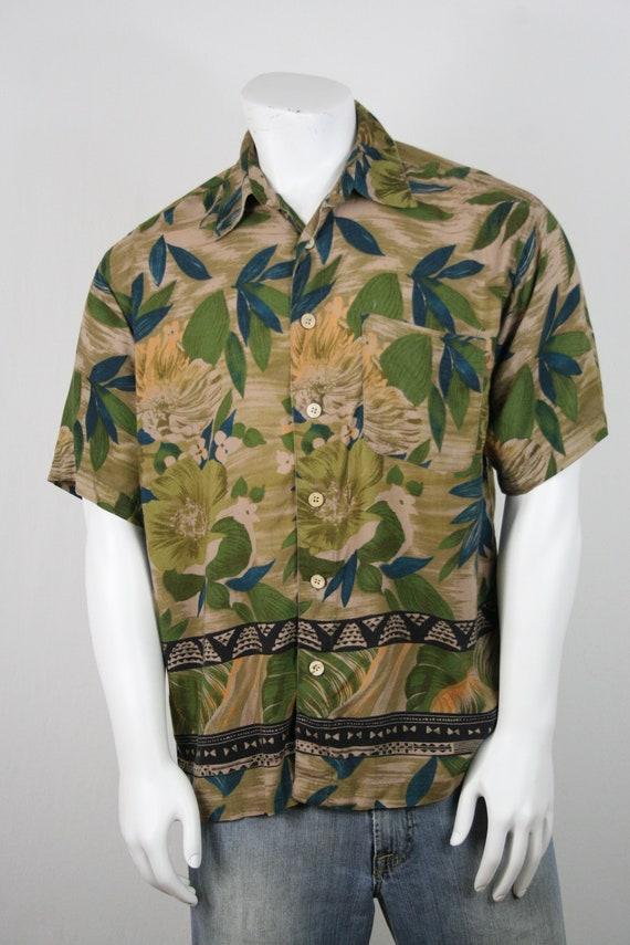 Vintage Aloha Shirt M.E. Sport Rayon Shirt Large - image 4