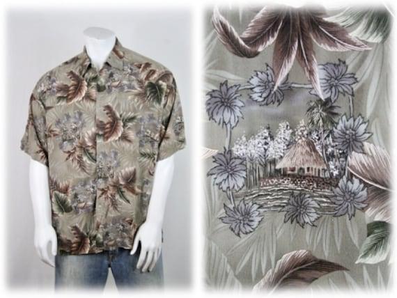 Vintage Aloha Shirt Rayon Campia Moda Shirt XL - image 1