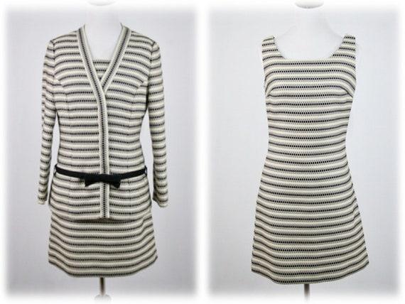 1960s Dress and Jacket Youth Guild Mod Mini Dress