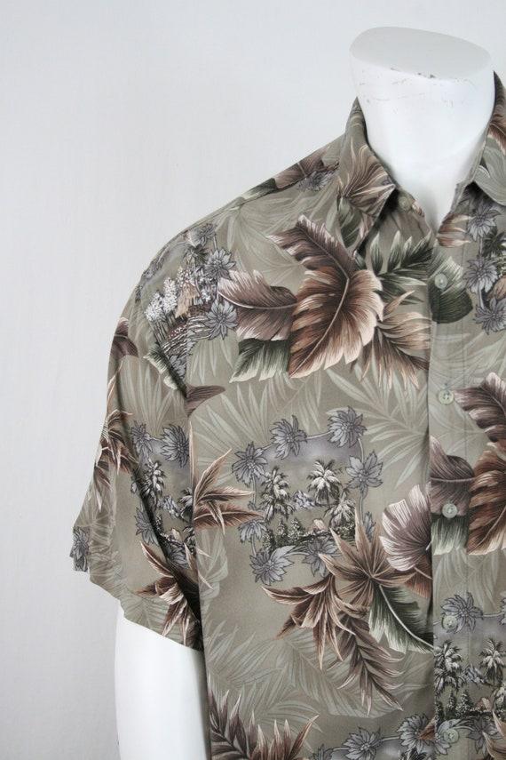 Vintage Aloha Shirt Rayon Campia Moda Shirt XL - image 5