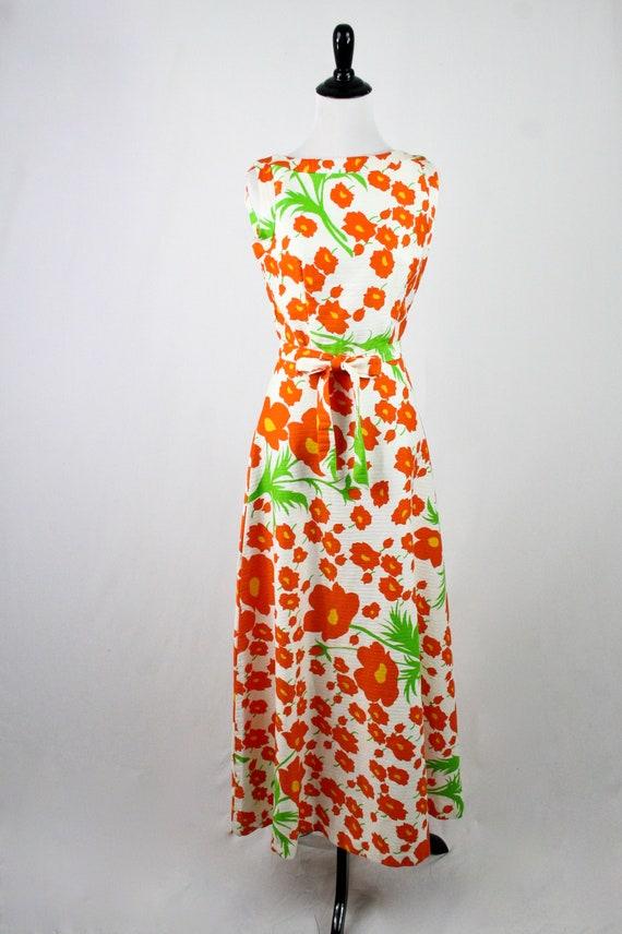 1970s Hawaiian Dress Maxi Dress by Malia Honolulu - image 4