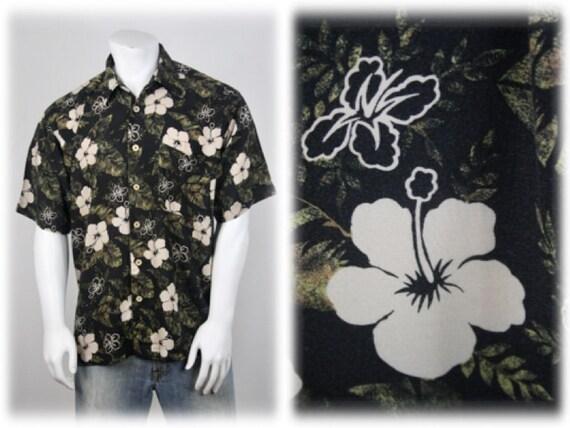 Vintage Aloha Shirt Rayon M.E. Sport Shirt XL - image 1