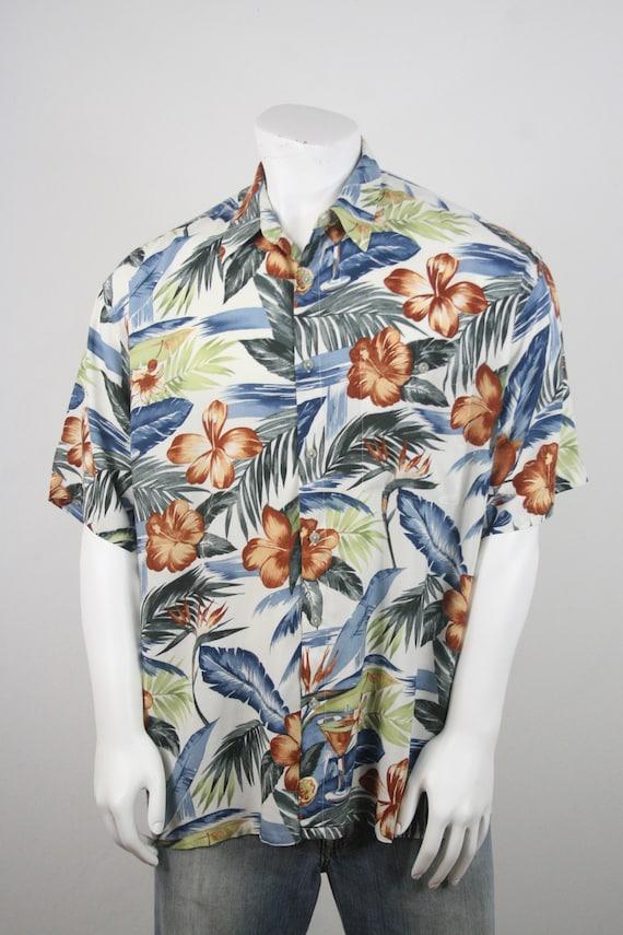 Vintage Aloha Shirt Rayon Shirt XL - image 4