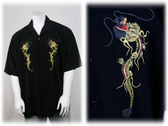 Vintage Shirt Dragonfly Clothing Company Shirt XXL