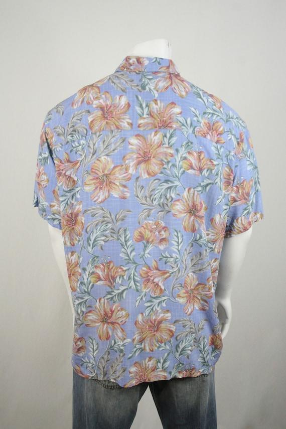 Vintage Aloha Shirt Rayon Island Shores Shirt XL - image 6