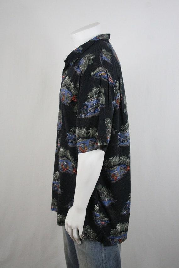 Vintage Aloha Shirt Rayon Batik Bay Shirt 3X - image 7