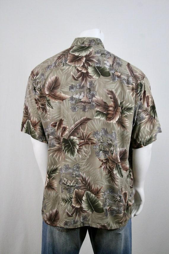 Vintage Aloha Shirt Rayon Campia Moda Shirt XL - image 7