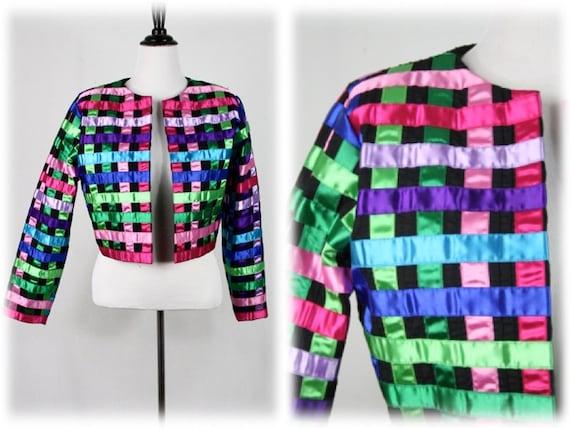 Vintage Jacket Tachi Castillo Mexican Colorful Rib