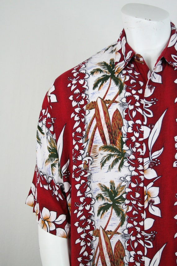 Vintage Aloha Shirt Untied Rayon Surfboard Shirt - image 5