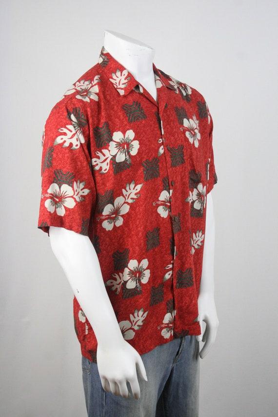 Vintage Aloha Shirt Rayon Ocian Pacific Shirt Med… - image 5