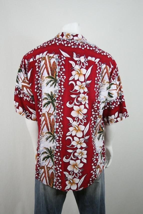 Vintage Aloha Shirt Untied Rayon Surfboard Shirt - image 7