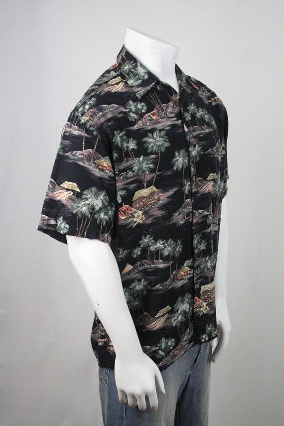 Vintage Aloha Shirt Rayon Moda Campia Moda Shirt … - image 5