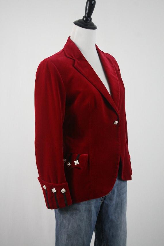 Vintage Blazer Red Velvet Sgt Pepper's Jacket - image 4