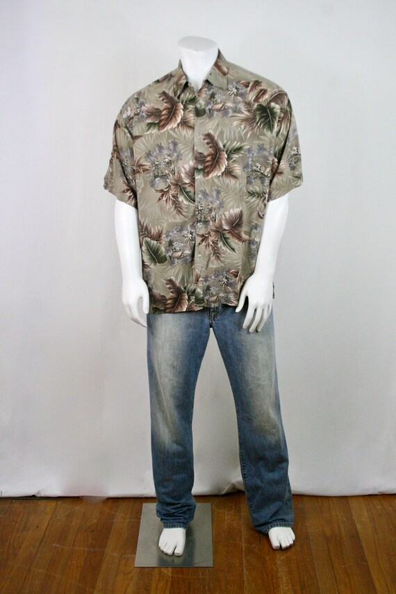 Vintage Aloha Shirt Rayon Campia Moda Shirt XL - image 2