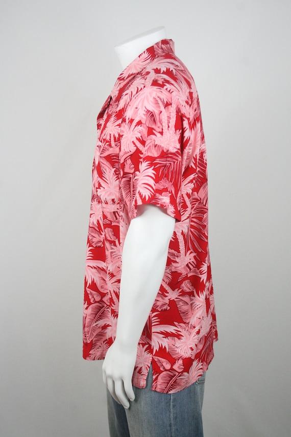 Vintage Aloha Shirt Red Rayon Shirt XL - image 7
