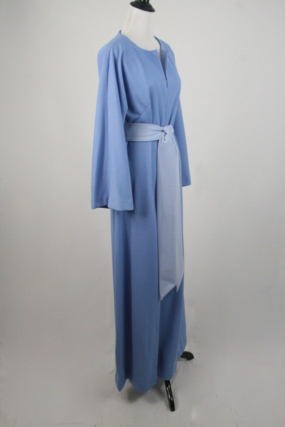 1970s Jumpsuit Blue Polyester Handmade Wide Leg J… - image 5