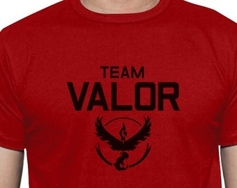 Team Valor - Black Logo - Men's Short Sleeve T-Shirt