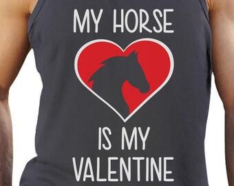 My Horse is My Valentine - Men's Tank Top Singlet