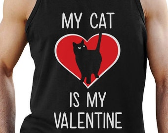 My Cat is My Valentine - Men's Tank Top Singlet