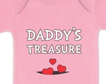 Daddy's Treasure Father's Day Gift Baby Short Sleeve Onesie Bodysuit