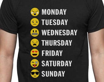 Weekly Emoji for Teens College / School T-Shirt