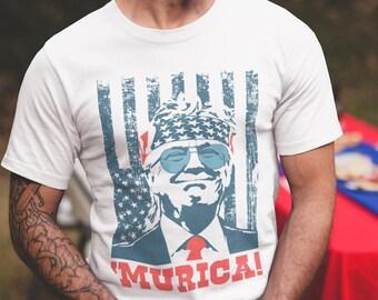 Pekatees American Tiger Shirt for Kids USA Animal Shirt 4th of July T-Shirt