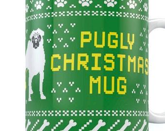 Pugly Christmas Mug Ceramic Coffee\Tea Mug