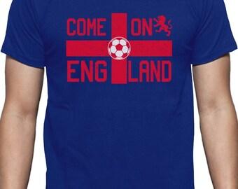 574ba0b9a Come On England UK Soccer Ball Flag Soccer Fans T-Shirt