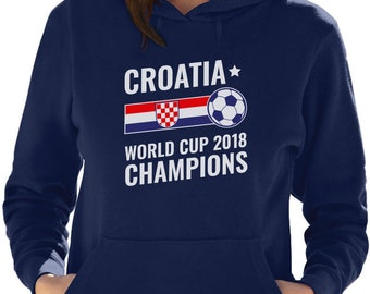 68e15727870 Croatia 2018 Champions National Soccer Team Fans Women Hoodie
