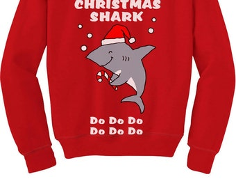 more colors christmas shark - Shark Christmas Sweater