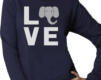 143f0183e Love Elephants Be Kind To Elephants Animal Lover Women Sweatshirt