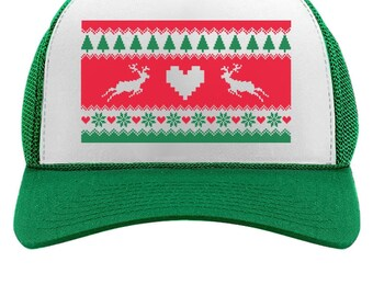 It/'s Xmas Bitches Funny Holiday Ugly Christmas Party Trucker Hat Mesh Cap Gift
