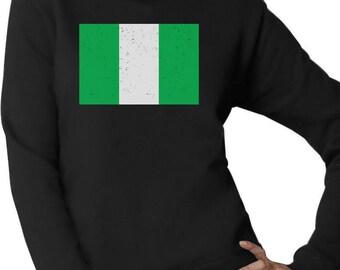 Nigeria Flag Vintage Style Retro Nigerian Women Sweatshirt 84c4b6a8d