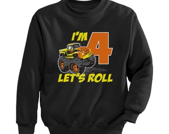 Birthday Gift For 4 Year Old Boy Truck 4th Boys Toddler Kids Sweatshirt