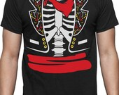 Day of The Dead Halloween Mexican Skeleton Rib Cage Costume T-Shirt