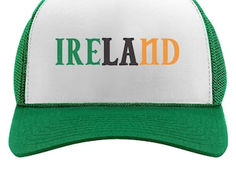 c7d61ace19c Ireland Flag Tricolor St.Patrick s Day Trucker Hat Mesh Cap