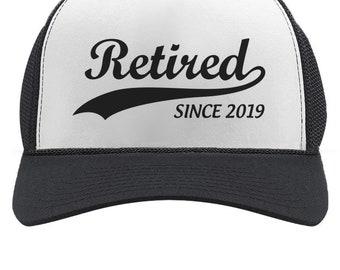 Retired Since 2019 - Cool Retirement Gift Idea Retiring Trucker Hat Mesh Cap e833f45d4c20