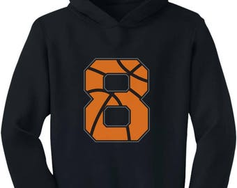 Basketball 8th Birthday Gift For Eight Year Old Toddler Hoodie