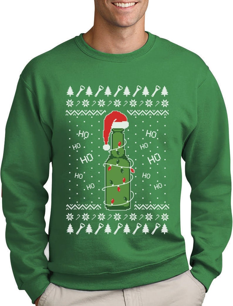 Ugly Christmas Sweater Beer Pong Holiday Party Sweatshirt