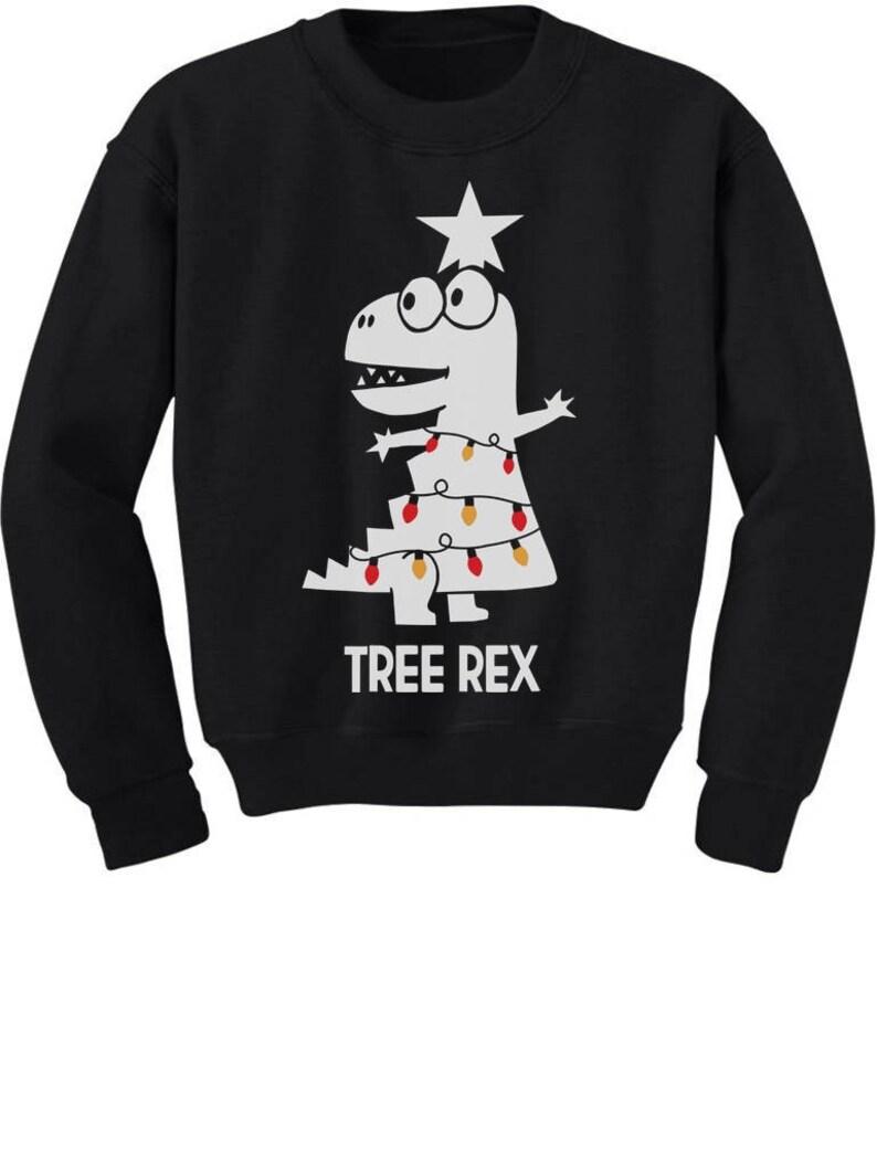 6e736f785c1688 Tree Rex Cute Funny T-Rex Dinosaur Christmas Toddler/Kids   Etsy