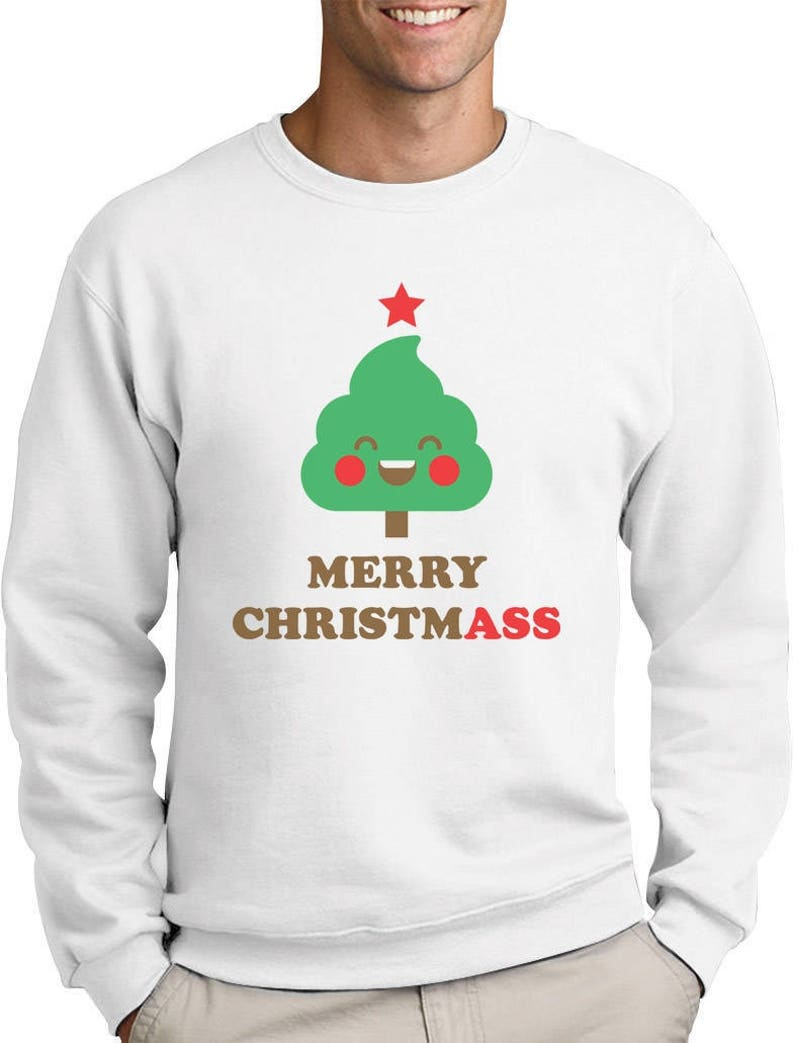 d634b270 Merry Christmass Funny Christmas Tree Sweatshirt | Etsy