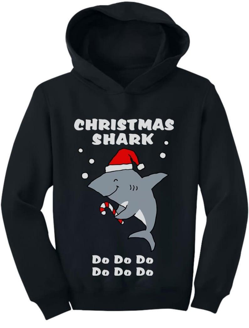 Christmas Shark doo doo doo Ugly Holiday Toddler Hoodie
