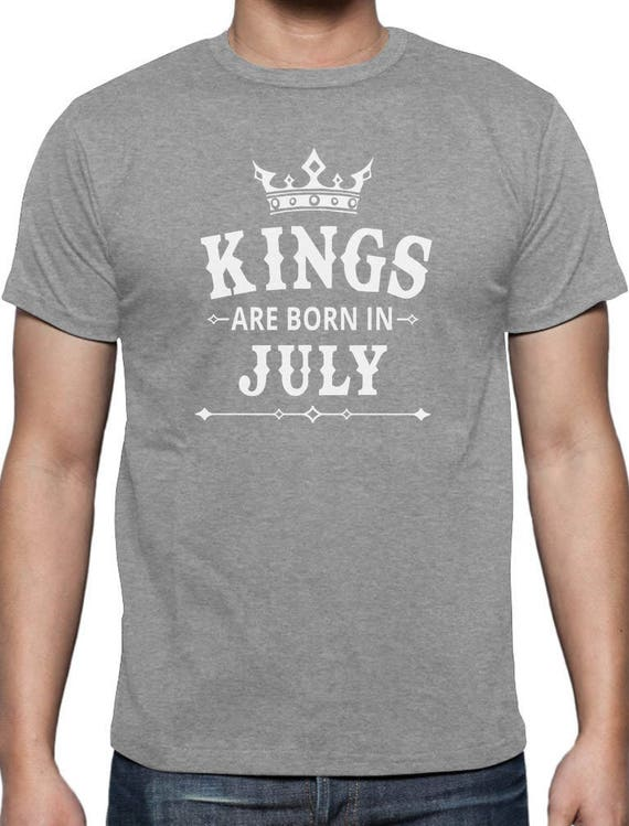 af09187fd07 KINGS Are Born In July Men s Birthday Gift T-Shirt