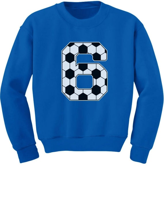 Soccer 6th Birthday Gift For 6 Year Old Youth Kids Sweatshirt