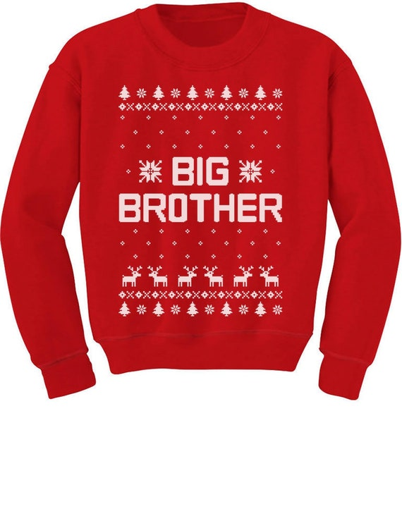 Big Brother Ugly Christmas Sweater Boys Sibling Toddlerkids Etsy