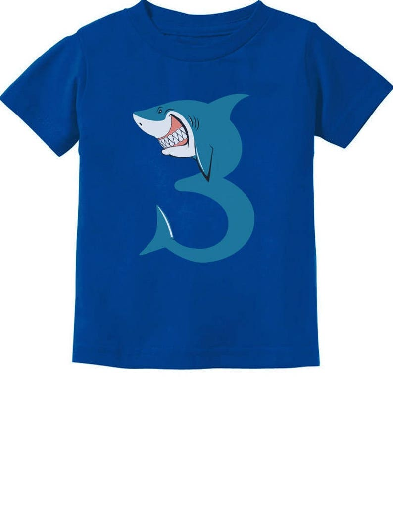 3rd Birthday Shark Party Gift For 3 Year Old Toddler Kids